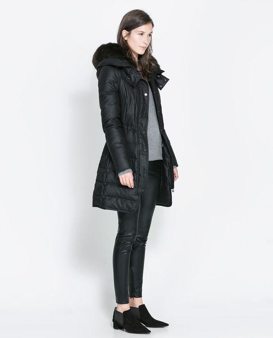 Image 1 of SEMI-LONG PUFFER ANORAK from Zara