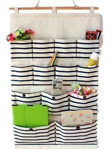 Moolecole kreative leinen baumwolle stoff tasche wand h ngenden beutel t r zur ck - Taschen aufbewahrung wand ...