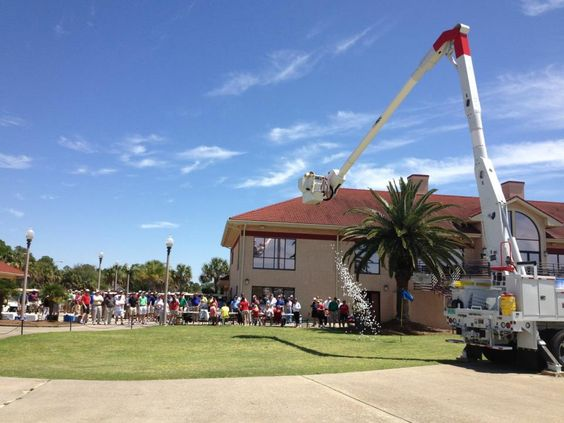 Gulf Power Bayfront Golf Tournament - 4/12/13.  Golf ball drop closest to the pin contest.