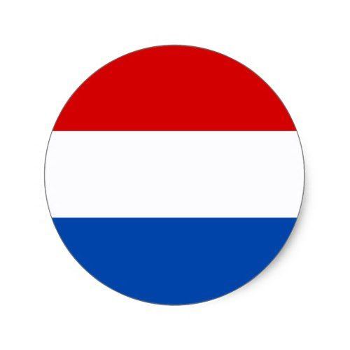 The Dutch Flag Classic Round Sticker Zazzle Com In 2020 Dutch Flag Netherlands Flag Custom Stickers