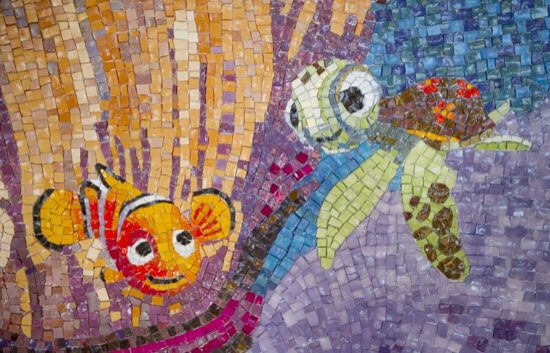 Squirt and nemo Mosaic!!! So cute
