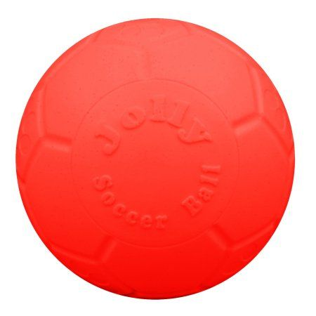 Jolly Pets 6 inch Jolly Soccer Ball - boxed pkg, Orange, Red