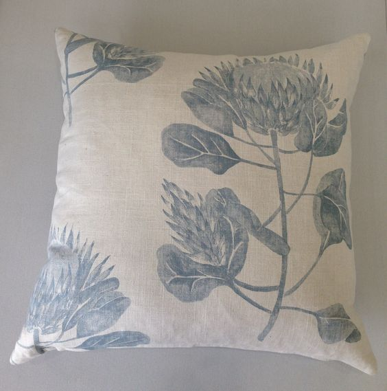 protea flower inspired scatter cushions bellagio