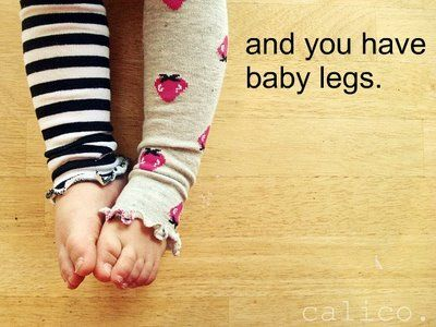 Cute little baby legs, so easy!