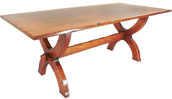 Batheaston Sawbuck Table Refectory Table Table Decor
