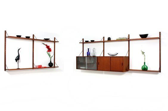 60er Teak Regal-System modular l ähnlich String oder Cado l Birksholm l so aufgebaut ca. 160x100 und 240x100cm l sehr schöner Zustand l seltene Ausf.