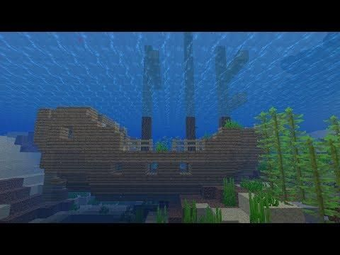 Minecraft 1 13 Seed Shipwreck Coral And Underwater Ruins At Spawn