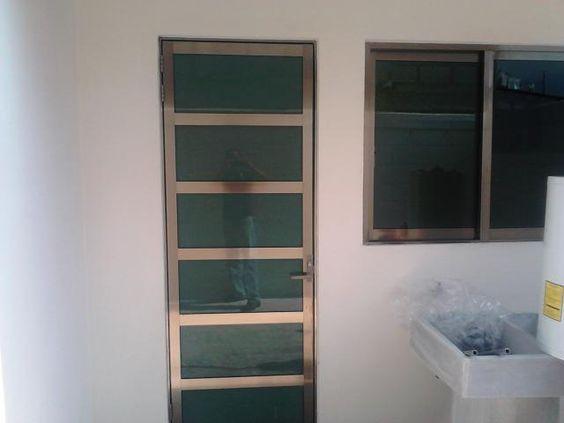 Puerta de aluminio para cocina buscar con google - Puertas para terrazas aluminio ...