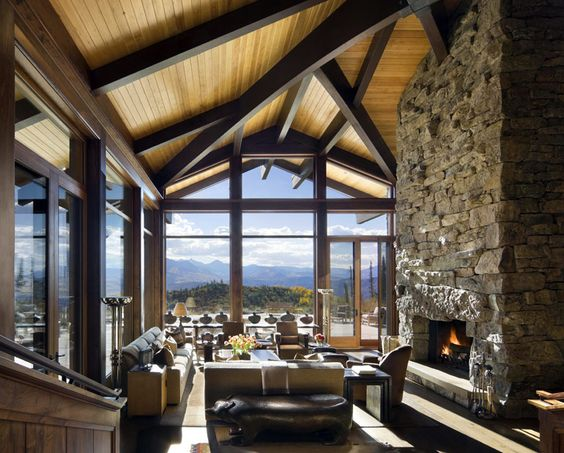I wish I had that view!   Natural Rocky Mountain Retreat by IKBA