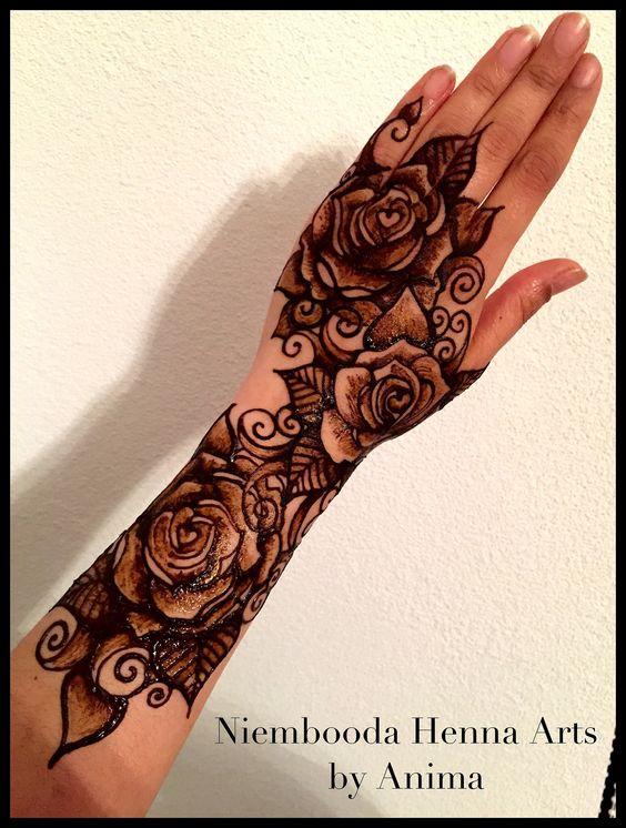 Pinterest the world s catalog of ideas for Rose henna tattoo