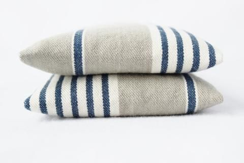 French Country Home Indigo Stripe Balsam Sachets Cottage Chic Grey White Rustic Farmhouse