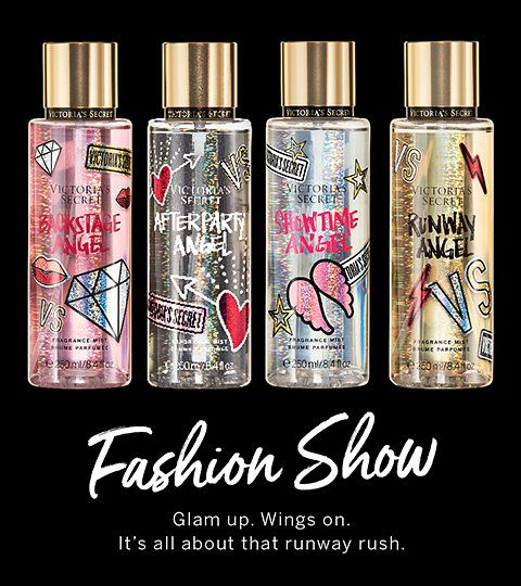 Fashion Show Glam Up Wings On It S All About That Runway Rush Bath And Body Works Perfume Victoria Secret Body Spray Body Spray