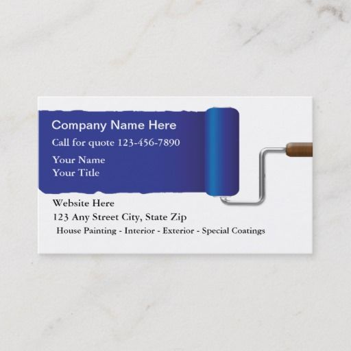 Painter Business Cards Zazzle Com Painter Business Card Cool Business Cards Business Cards