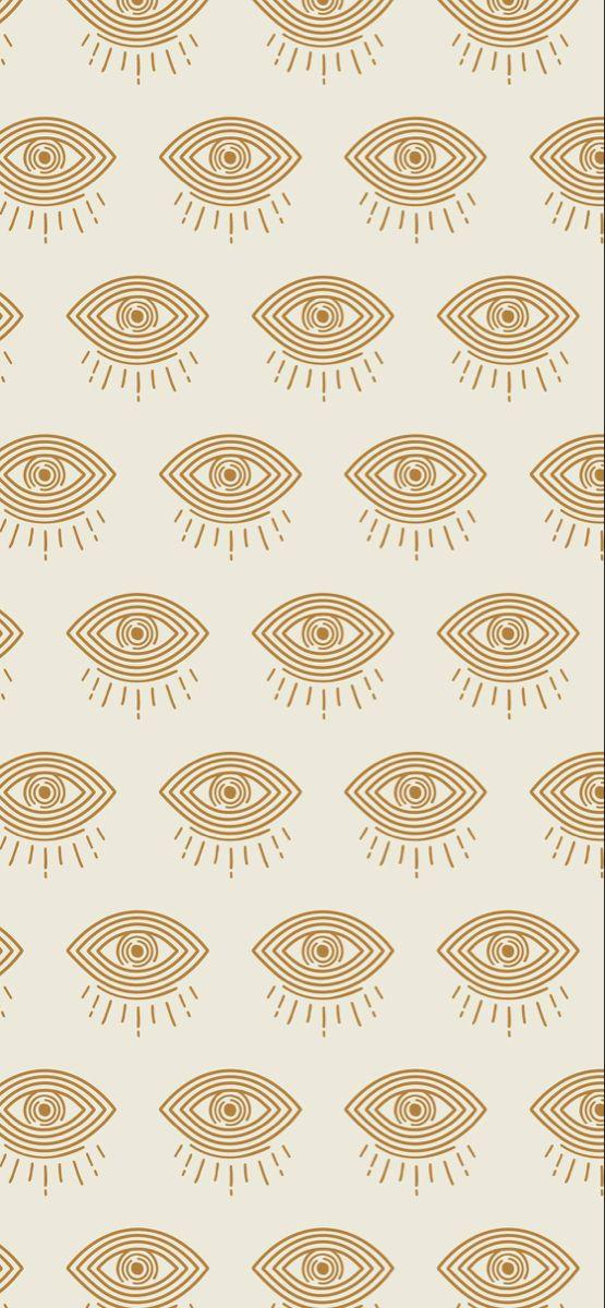 Evil Eye Illustration Pattern Background Megan Schofield Design Wallpaper Iphone Boho Eyes Wallpaper Bohemian Wallpaper