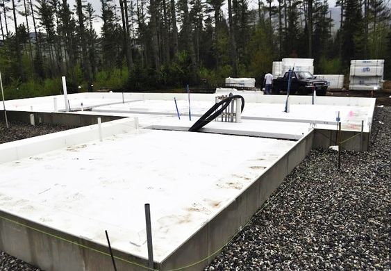 Concrete slab end of days and green building on pinterest for Best temperature to pour concrete foundation
