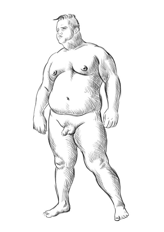 Chubby fat naked men