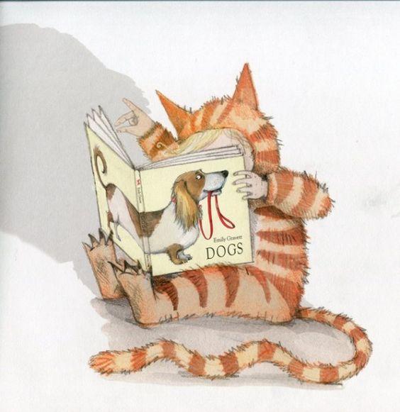 Seeking information / Buscando información (ilustración de Emily Gravett)