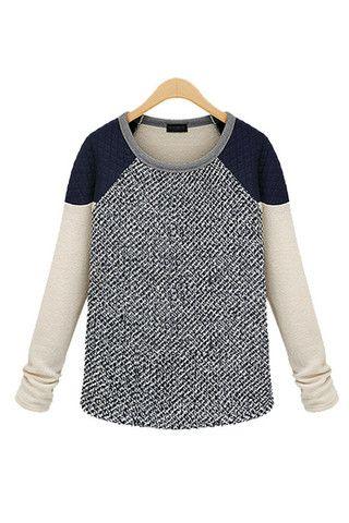 Color Block Raglan Quilted Neoprene Shoulder Grey Marble Knit Sweater #raglansweater #colorblock #blondesalad #marbleknit #sweater #oversizedsweater