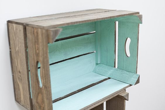 Green Vintage Style Apple Crate Shelving Storage Box: Amazon.co.uk: Kitchen…