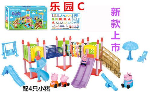 New-Peppa-Pig-Playground-Play-on-The-Slide-Set-With-Figures-Xmas-Gift-2016