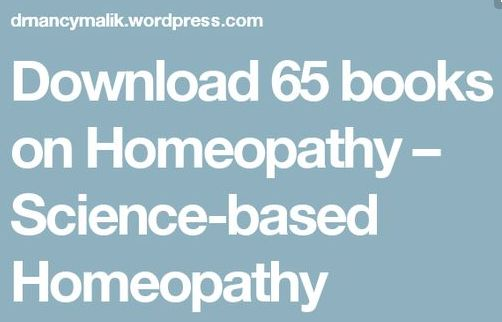 Download 66 books on Homeopathy