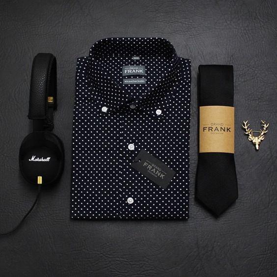 Polka dot & black