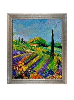 "Pol Ledent ""Provence 451190"" Framed Canvas Print"