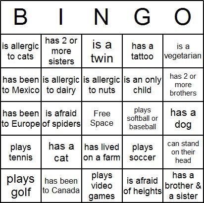 Icebreaker Bingo Card | Classroom Fun | Pinterest | Bingo and ...