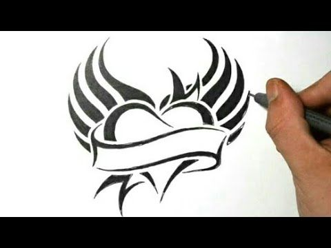 How To Make Heart Love Simple Tattoo Designs With Pen Men And Women Watch Video Designs Heart Simple Tattoo Designs Tribal Tattoos Tribal Tattoo Designs