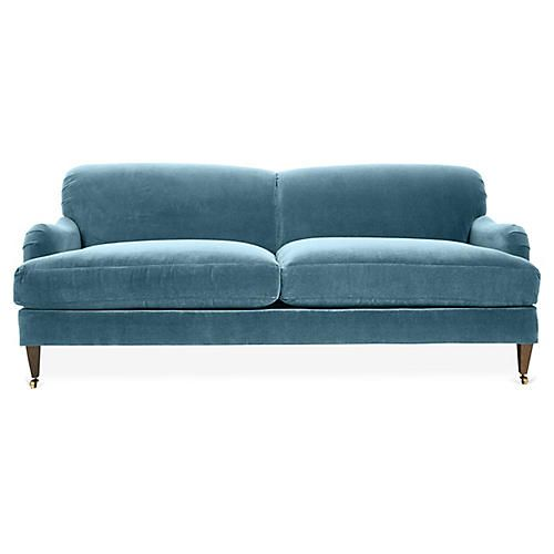 Brampton Sofa Colonial Blue Crypton Settee Living Room Living