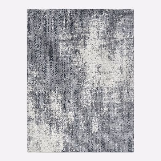 Distressed Foliage Rug Moonstone 8 X10 In 2020 Rugs Rug Shopping Restaurant Design