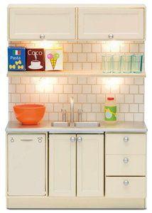 Lundby Smaland keukenblok 1 aanrecht en afwasmachine