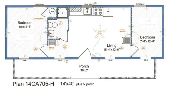14x40 cabin floor plans tiny house pinterest cabin