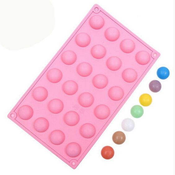 24 Half ball Silicone Break-Apart Chocolate, Protein and Energy Bar Mold