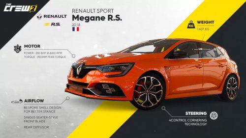 New 2018 Renault Megane Rs Makes Digital Debut In The Crew 2