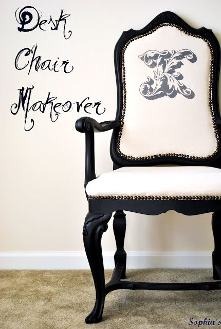 Sophia's: Desk Chair Makeover and the Beginnings of My New Creative Space