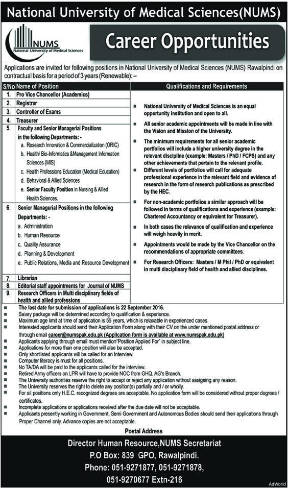 Employment Opportunities In Gambat Institute Of Medical Science
