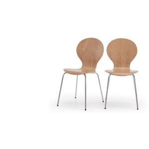 2 X Kitsch Dining Chairs In Ash