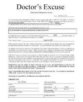 Using a Doctors Excuse Form for Work | Best Fake Doctors Notes ...