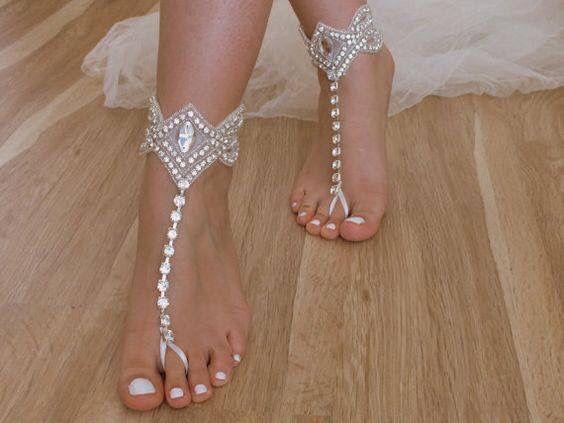Footless Sandal Barefootshoes Strandhochzeit Schuhe Schuhe Hochzeit Fussschmuck