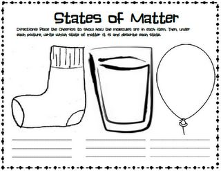 Page for students on states of matter.    g 2