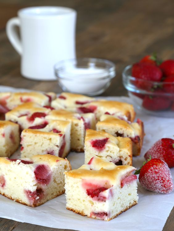 Get this tested, easy-to-follow recipe for gluten free strawberry breakfast cake. Low-fat, low-sugar & packed with fresh strawberries. Perfect for breakfast!