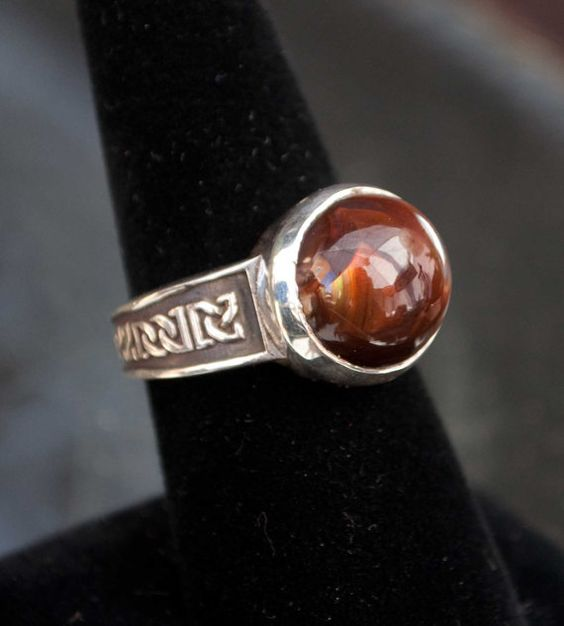 Celtic Fire Agate Ring