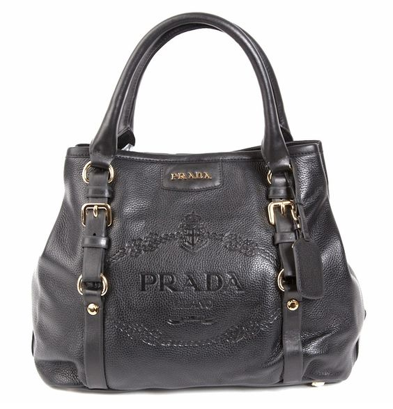 faux prada handbags - Prada Logo Leather Bag BR4193 - Black Replica Prada bag cheap ...