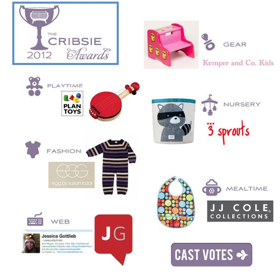 Cribsie Award Voting is now open...help decide what the best baby products are! @cribsieawards