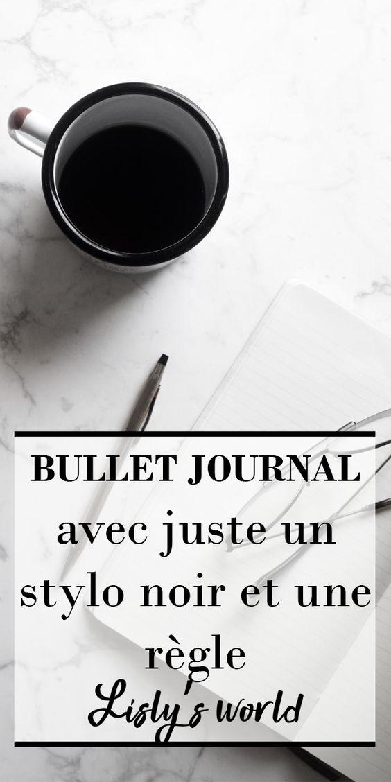 Défi : le Bullet Journal avec juste un stylo et une règle