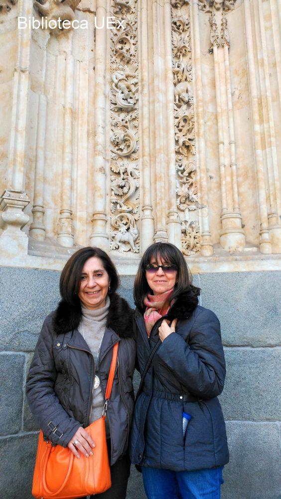Nuestros compañeras María Otero y Maribel Escalona en Salamanca para asistir a la conferencia sobre Métricas Alternativas de la mano de una experta en la materia, Tina Moir, Vice Presidenta de Desarrollo Estratégico y Partnerships de Plum Analytics, perteneciente al grupo EBSCO.