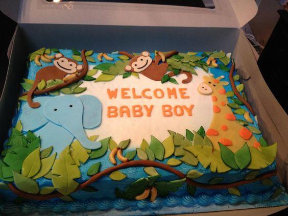 jungle safari baby shower cake  elishias baby shower, Baby shower invitation