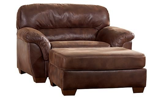 Armchairs furniture and ottomans on pinterest for Big comfy leather chair