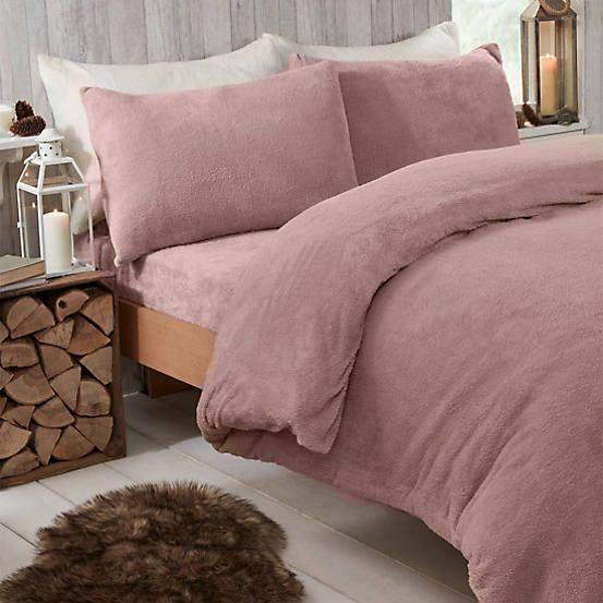 Teddy Fleece Duvet Cover Pillowcase Set By Kaleidoscope Kaleidoscope Duvet Sets Duvet Cover Sets Duvet Covers
